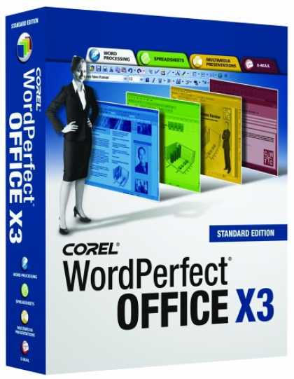 Bestselling Software (2008) - WordPerfect Office X3 Standard [OLD VERSION]