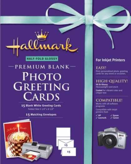 Bestselling Software (2008) - Hallmark Half-Fold Glossy Premium Photo Greeting Cards