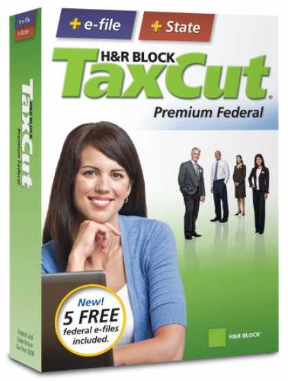 Bestselling Software (2008) - H&R Block TaxCut 2008 Premium Federal + State + e-file
