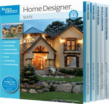 Bestselling Software (2008) - Better Homes and Gardens Home Designer Suite 8.0