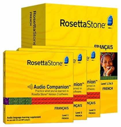 Bestselling Software (2008) - Rosetta Stone Version 3: French Level 1, 2 & 3 Set with Audio Companion