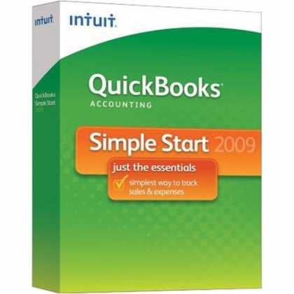 Bestselling Software (2008) - QuickBooks Simple Start 2009