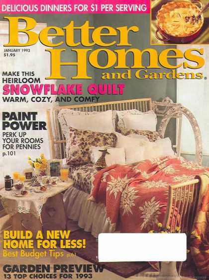 Better Homes and gardens - January 1993