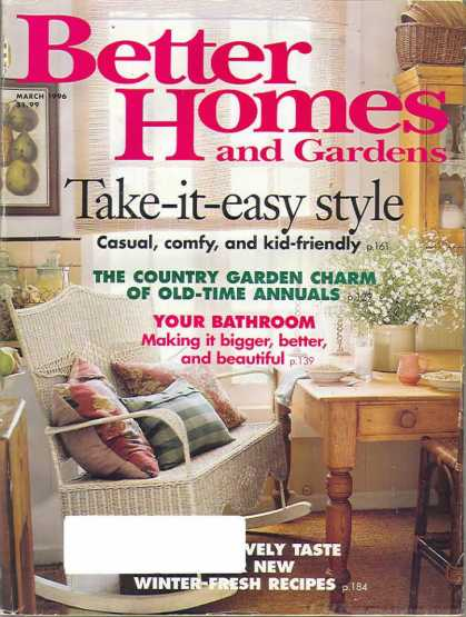 Better Homes and gardens - March 1996