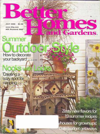 Better homes and gardens covers 50 99 Better homes and gardens july
