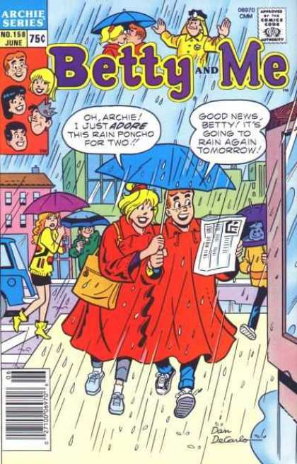 Betty and Me 158 - Rain - News Paper - Van - Bag - Umbrella
