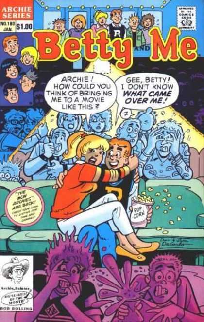 Betty and Me 180 - Archie - Couch - Popcorn - Scary Movie - Frightened
