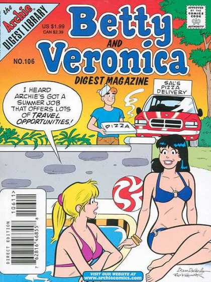 Betty and Veronica Digest 106 - Archie - Pizza - Sals - Car - Delivery