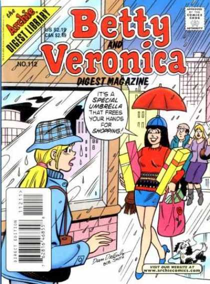 Betty and Veronica Digest 112 - Archie - Issue 112 - Umbrella - Hat - Rain