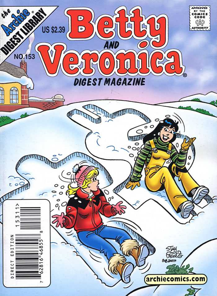 Betty and Veronica Digest 153 - Archie Digest Library - Woman - Snow - House - Direct Edition