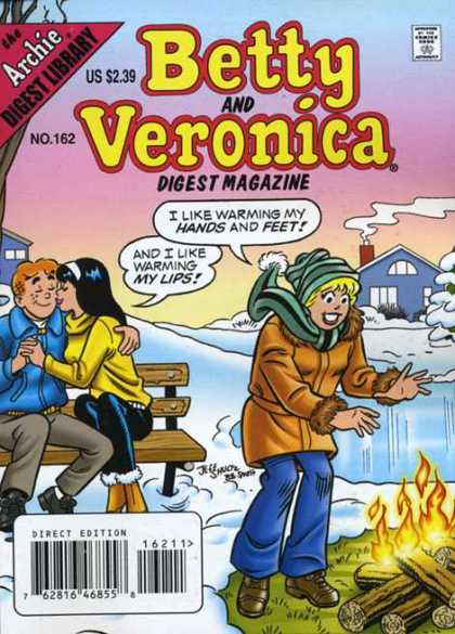 Betty and Veronica Digest 162 - Approved By The Comics Code Authority - Archie Digest Library - Us 239 - No162 - Direct Edition
