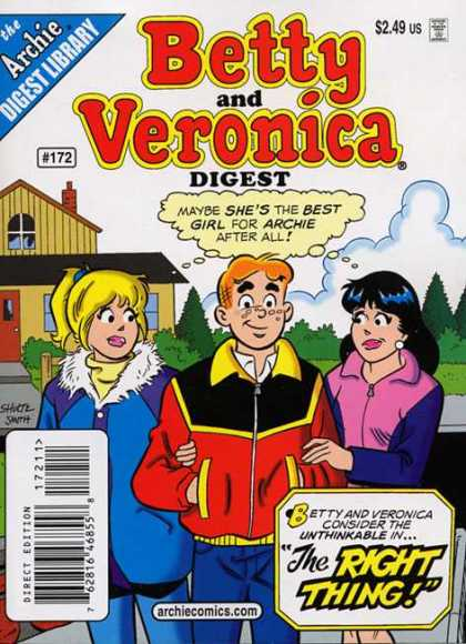 Betty and Veronica Digest 172 - Best Girl - Archie - Digest Library - Jackets - Cold