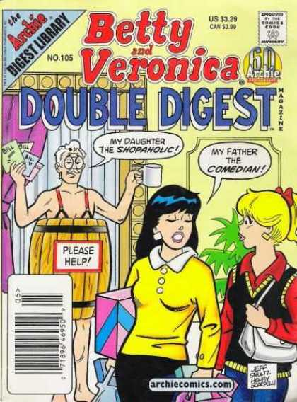 Betty and Veronica Double Digest 105 - Daughter - Barrel - Comedian - Father - Help