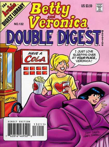 Betty and Veronica Double Digest 132 - Cola - Popcorn - Popcorn Machine - Purple Bed - Sleepover