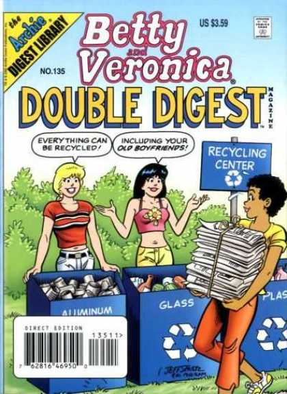 Betty and Veronica Double Digest 135 - Archie - Recycling Center - Newspaper - Glass - Aluminum