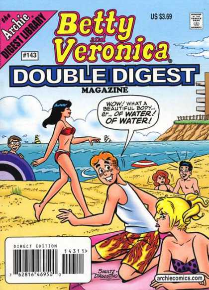 Betty and Veronica Double Digest 143 - Beach - Sand - Water - Shore - Staring