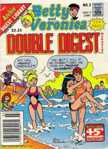 Betty and Veronica Double Digest 3 - Archie - Blonde - Bikini - Beach - Lifeguard