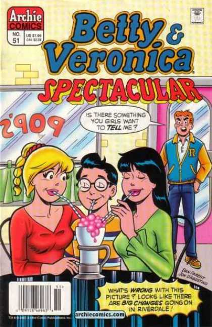 Betty and Veronica Spectacular 51 - Soda Fountain - Straws - Date - Letter Jacket - Pops