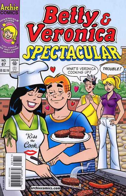 Betty and Veronica Spectacular 67 - The Archies - Cookout - Hamburgers - Crown - Trouble