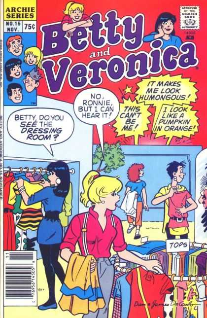 Betty and Veronica 15 - Archie Series - No15 Nov - 75c - Tops - Ronnie