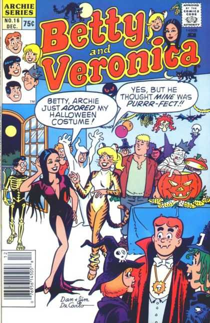 Betty and Veronica 16 - Archie - Halloween - Party - Cat - Vampire
