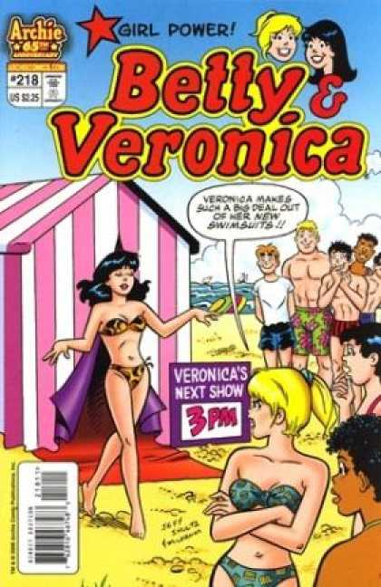 Betty and Veronica 218 - Girl Power - Beach - Boys - Bikini - Swimsuits