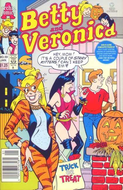 Betty and Veronica 59 - Archie - Halloween - Stray Kittens - Trick Or Treat - Betty And Veronica