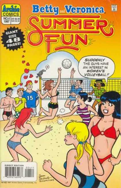 Betty & Veronica Summer Fun 4 - Volleyball Net - Yolleyball - Females - Bikinis - Beach