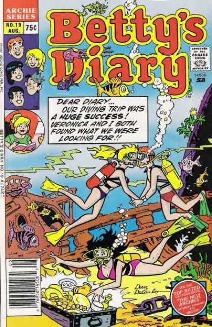 Betty's Diary 19 - Archie - Veronica - Underwater - Scuba Diving - Sunken Ship