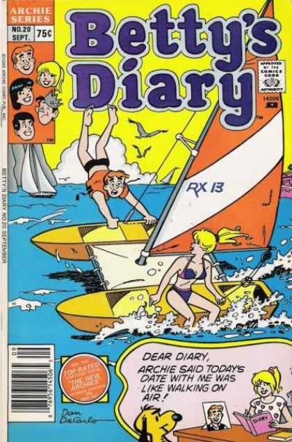 Betty's Diary 20 - Archie Series - Veronica - Seagulls - Ocean - Sail