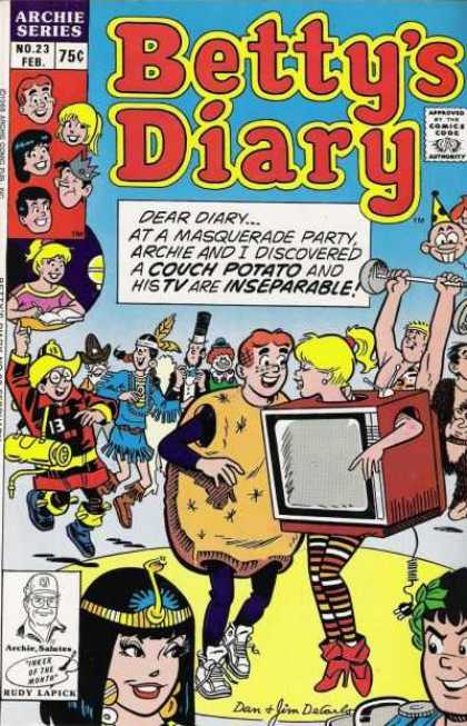 Betty's Diary 23 - Dancing - Teens - Costume - Fireman - Tv Set