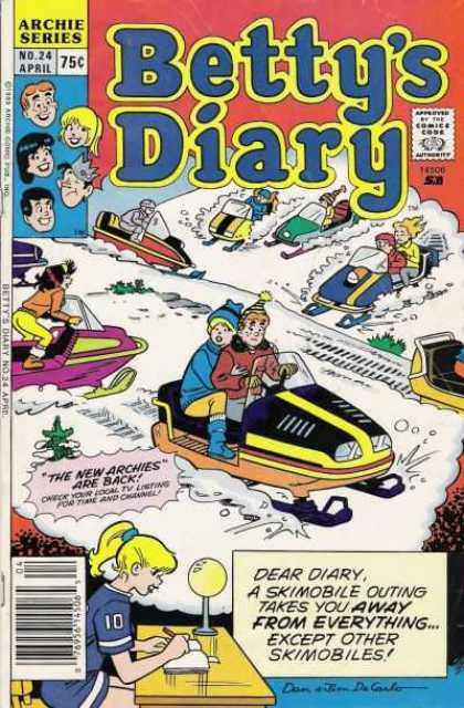 Betty's Diary 24 - Archie - Veronica - Jughead - Skimobile - Snow