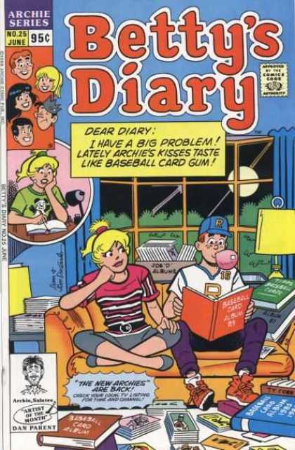 Betty's Diary 25 - Archie Series - No 25 - June - Artist Of The Month Dan Parent - Couch