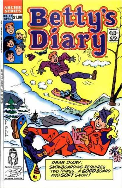 Betty's Diary 32 - Archie - Betty - Snow - Mountain - Skiis