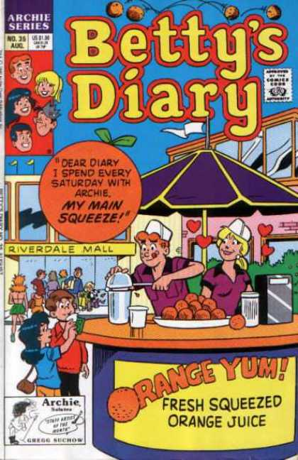 Betty's Diary 35 - Archie Comic - Friends - Teenagers - High School Fun - Dating