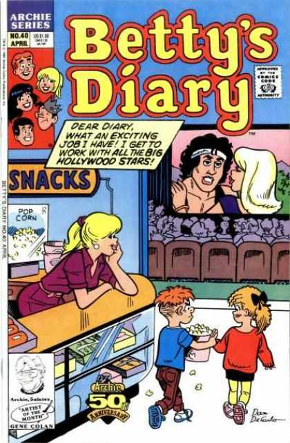 Betty's Diary 40 - Hollywood - Pop Corn - Snacks - Theater - Stars