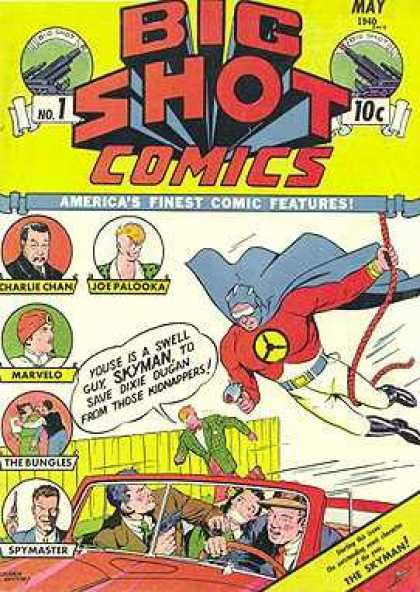 Big Shot 1 - Big Shot Comics - 10 Cents - Skyman - Charlie Chan - Joe Palooka