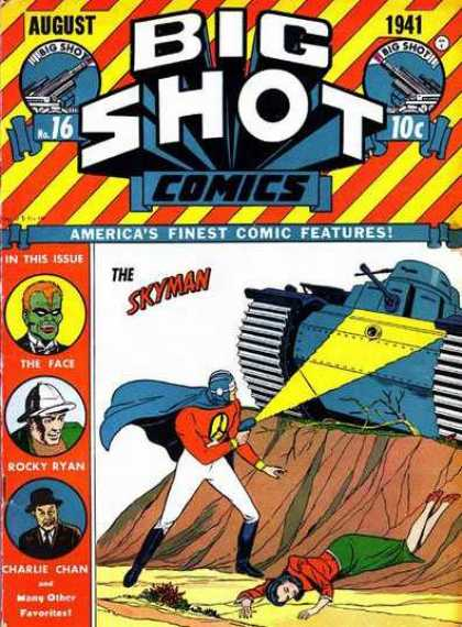 Big Shot 16 - August - No 16 - 1941 - The Skyman - The Face