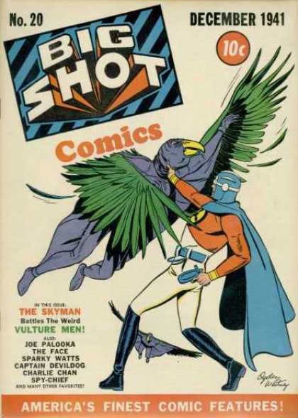 Big Shot 20 - The Skyman - Vulture Men - Joe Palooka - The Face - Captain Devildog