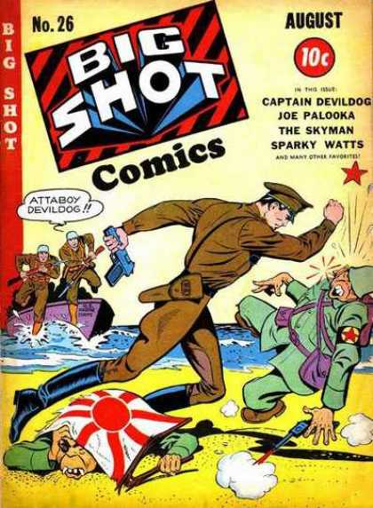 Big Shot 26 - Captain Devildog - Joe Palooka - The Skyman - Gun - Japanese War Flag