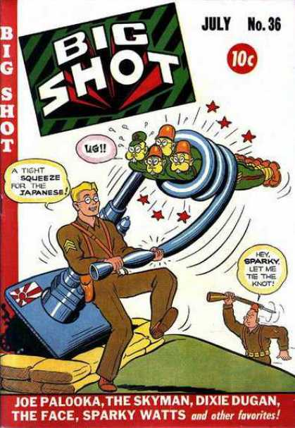 Big Shot 36 - Joe Palooka - The Skyman - Dixie Dugan - The Face - Sparky Watts