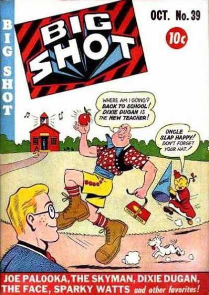 Big Shot 39 - New Teacher - Back To School - Dunce Cap - Books - Dog