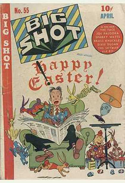 Big Shot 55 - Happy Easter - Newspaper - Cat - Sofa - Mess Up