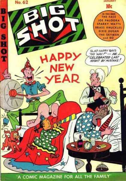 Big Shot 62 - Happy New Year - Celebration - Granny - Joe Palooka - Sparky Watts