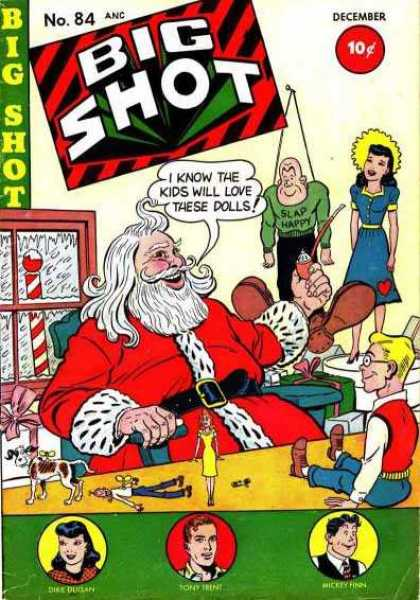 Big Shot 84 - Dolls - 10 Cents - Santa - Pipe - Presents