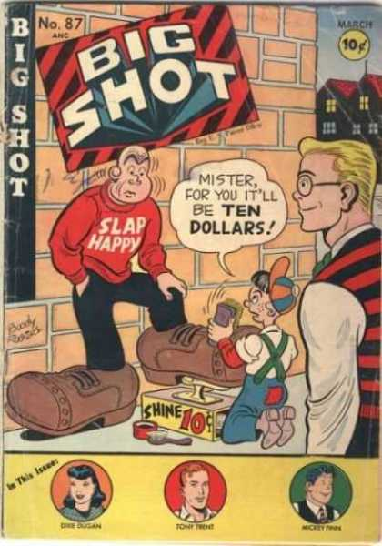 Big Shot 87 - 10 Cents - Speech Bubble - Men - Boy - March