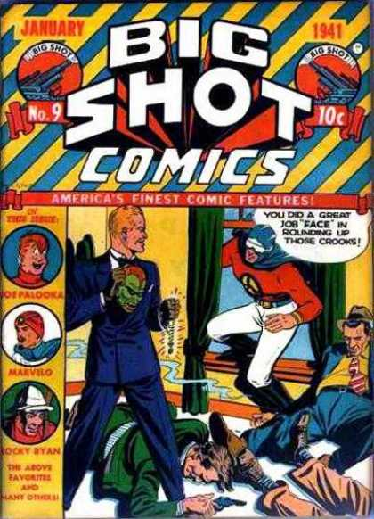 Big Shot 9 - Mask - Gun - Small Shot - Green Screen - America Finest Comic