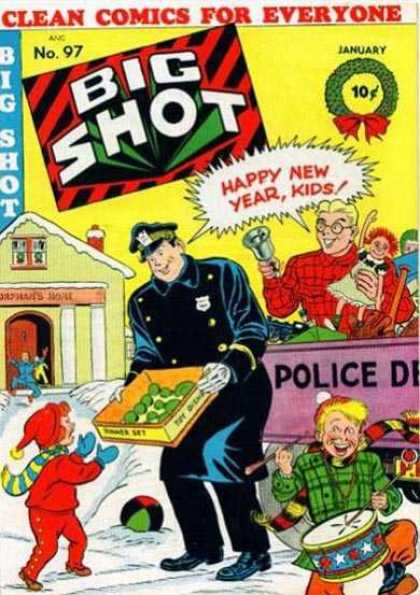 Big Shot 97 - Big Shot - Happy New Year Kids - Policeman - Snow - Kids