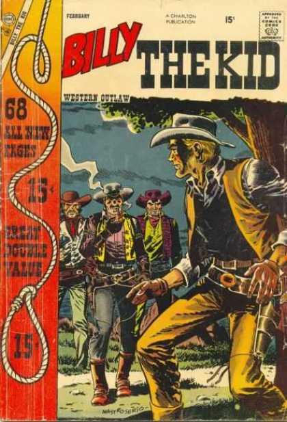 Billy the Kid 11 - Cow Boys - Smoking - Guns - Lassoo - Western