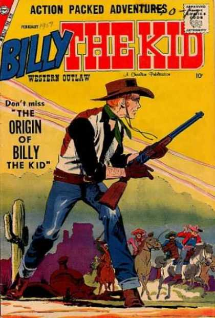 Billy the Kid 15 - Origin - Rifle - Cowboy - Men On Horseback - Cactus